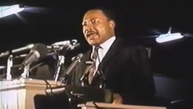 Dr. King April 3, 1968 at podium